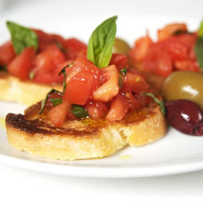 bruschetta all'olio extravergine